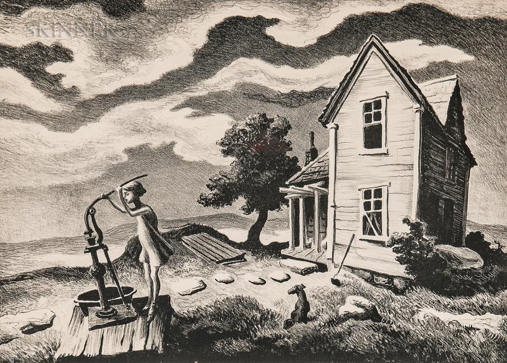 Thomas Hart Benton (American, 1889-1975)      The Farmer's Daughter