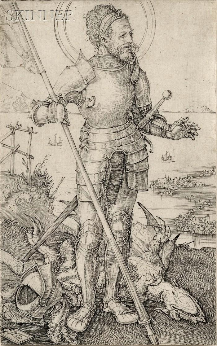 Albrecht Dürer (German, 1471-1528)      St. George on Foot