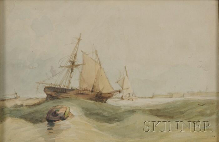 Manner of Joseph Mallord William Turner (British, 1775-1851)      Portsmouth Harbor