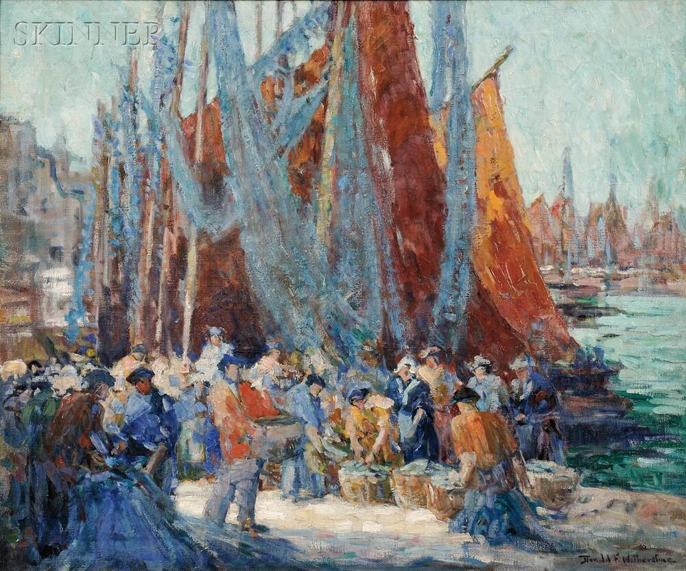Donald Frederick Witherstine (American, 1896-1961)      Dockside Fish Market
