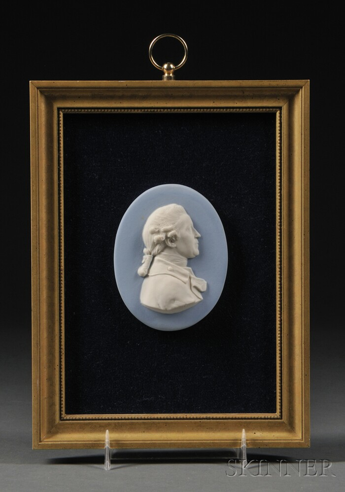 Framed Wedgwood Light Blue Jasper Portrait Medallion