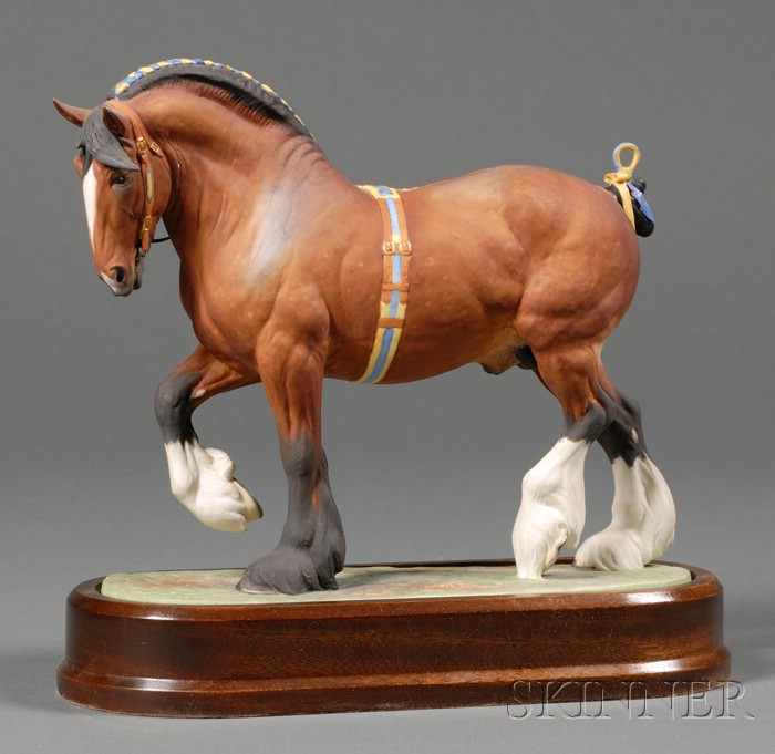 Royal Worcester Bone China Model of a Shire Stallion