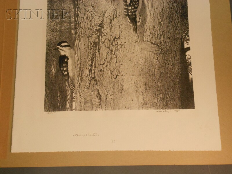 Stow Wengenroth (American, 1906-1978)      Three Images: Bufflehead (Greenport, New York)