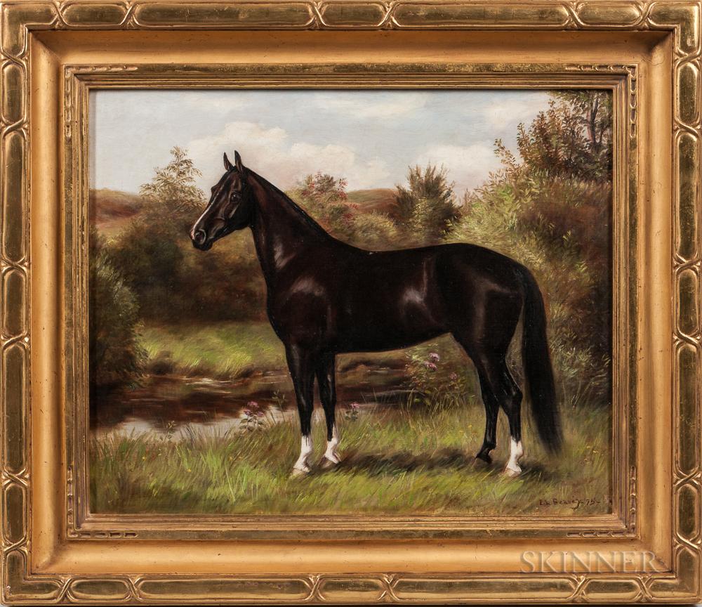 "Essie Leone Seavey [Lucas] (Kentucky/Virginia, 1872-1932)      Horse Portrait, Possibly of ""Jack"""