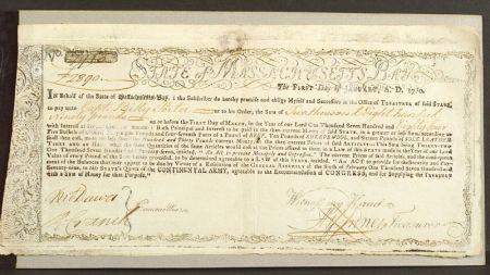 (Colonial Treasury Notes, Massachusetts)