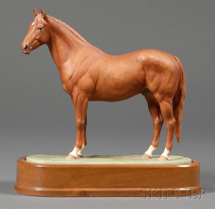 Royal Worcester Bone China Model of the Race Horse Hyperion