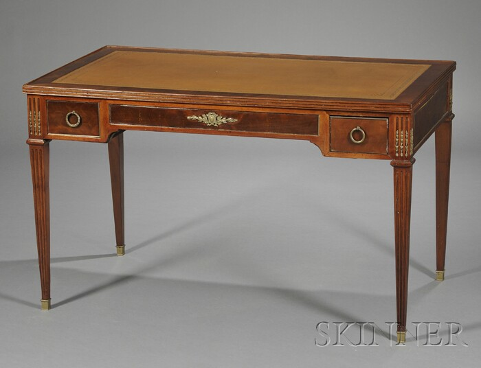 Louis XVI-style Mahogany and Brass-mounted Convertible Writing/Games Table