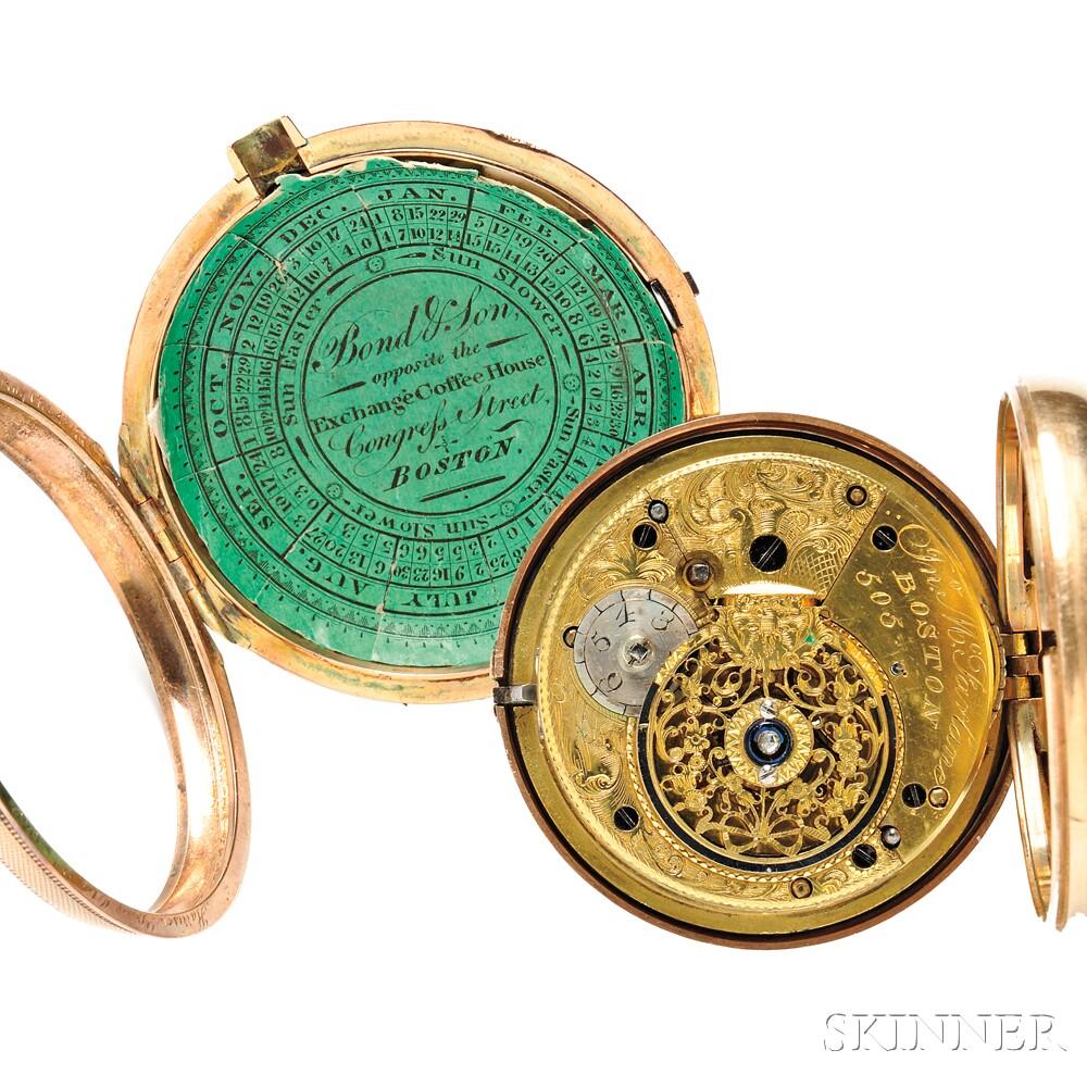 Harrison Gray Otis Family 18kt Gold Watch