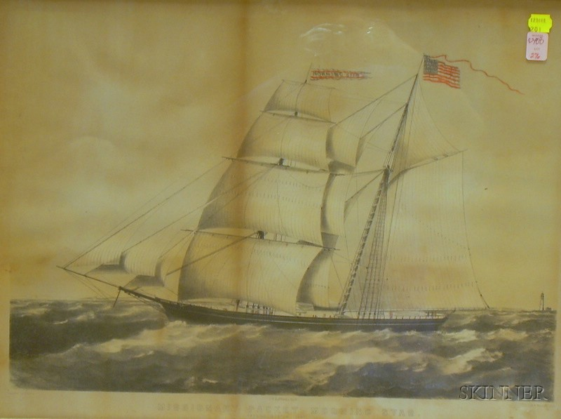 Framed Hand-colored Engraving South Sea Whale Fishery