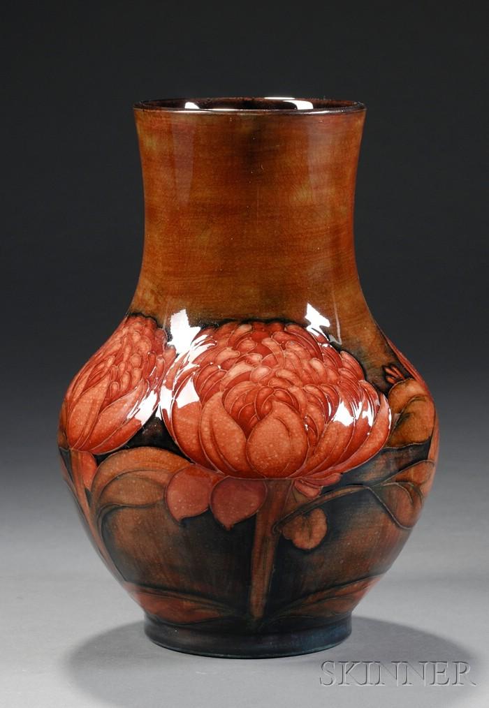 Moorcroft Red Flambe Pottery Vase