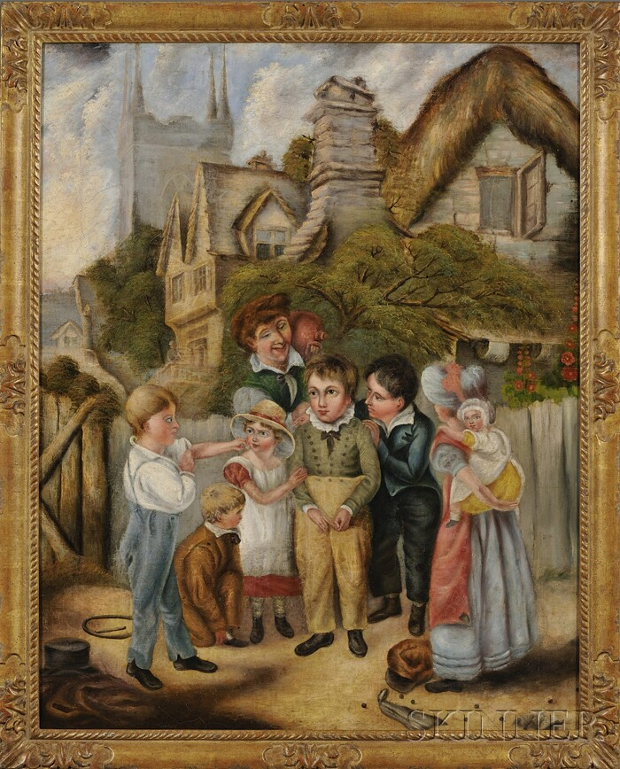 Continental School, 19th Century      Encounter with a Bully/Genre Scene with Children.