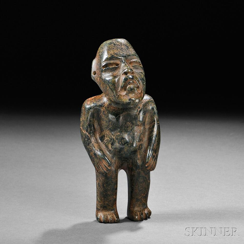 Olmec Carved Stone Figure