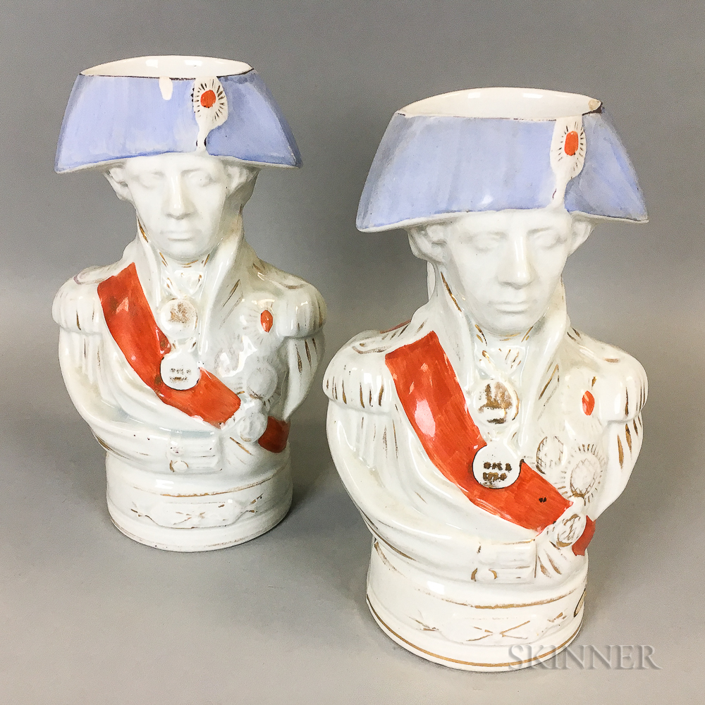 Pair of Admiral Nelson Ceramic Toby Mugs