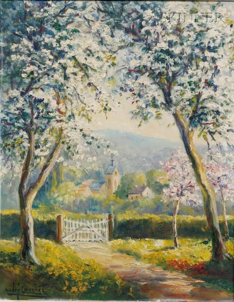 Andre Couchet (French, 20th Century)      Lot of Two Landscapes: La Cote d'Azur