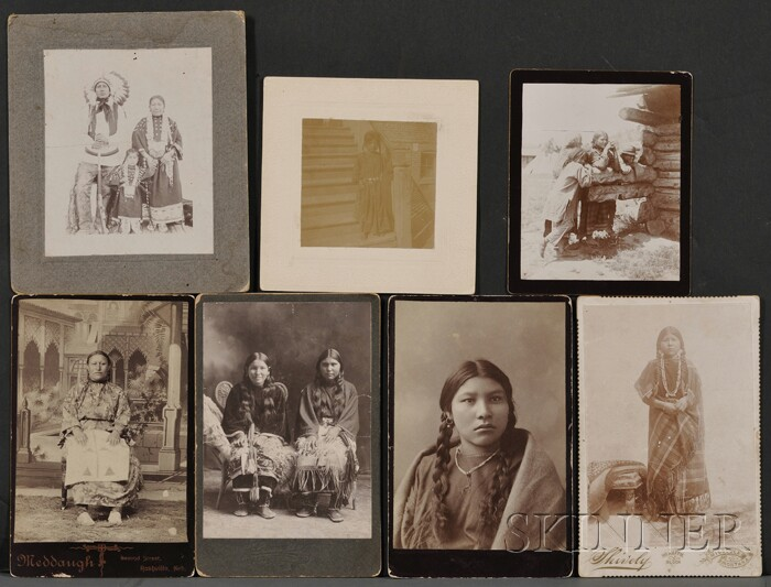 Seven Photographs of American Indians