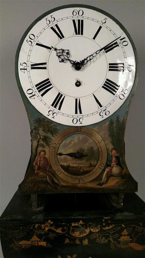 Late Victorian Japanned Wall Clock Sale Number 2975b