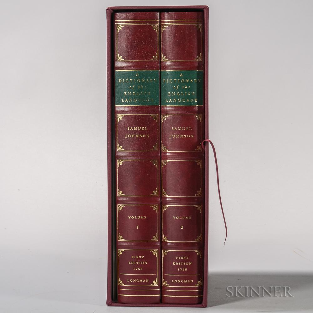 Johnson, Samuel (1709-1784) Facsimile Edition of A Dictionary of the English Language.