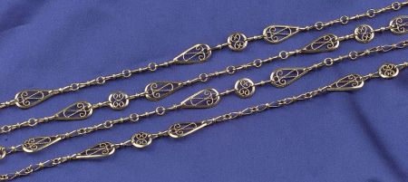Antique 18kt Gold Chain, France