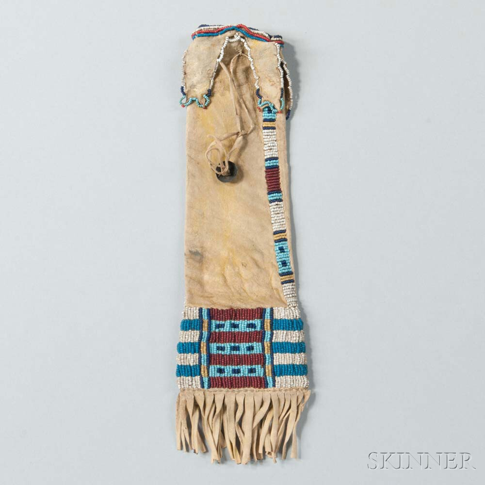 Cheyenne Beaded Hide Tobacco Pouch