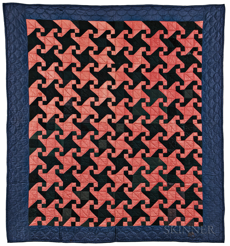 """Mennonite """"Bachelor's"""" or """"Indiana Puzzle"""" Quilt"""