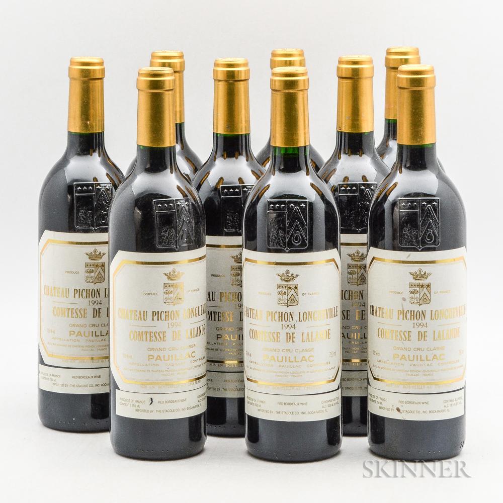 Chateau Pichon Lalande 1994, 9 bottles