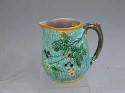 Wedgwood Blackberry Majolica Milk Pitcher.