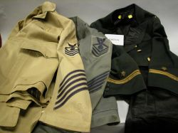 Lot of 19th/20th Century Men's Military Uniforms and Uniformwear