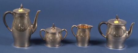 """Four Piece Tuttle Sterling """"Paul Revere"""" Tea and Coffee Service"""