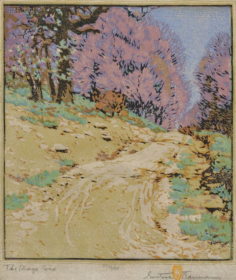 Gustave Baumann (American/German, 1881-1971)      The Ridge Road