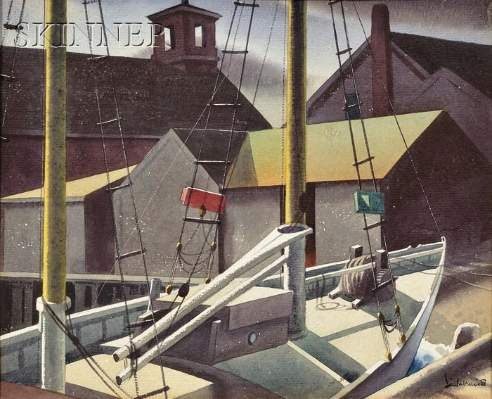 Sandor Bernath (American, 1892-1984)      Dockside View