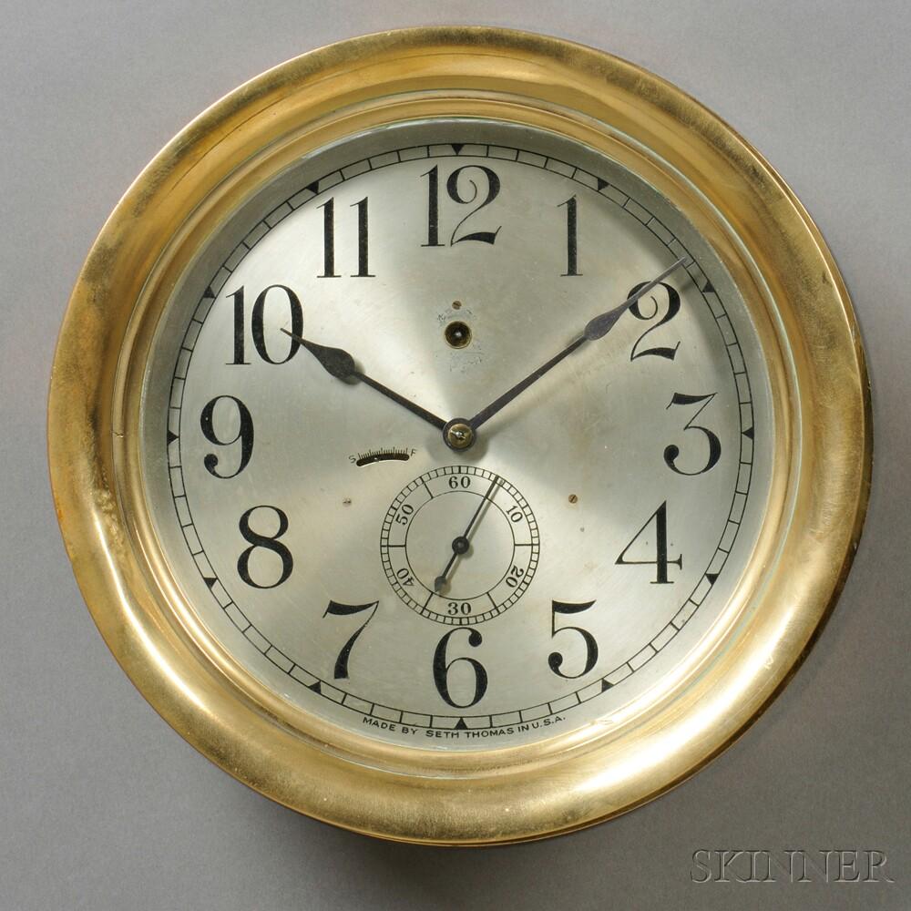 Seth Thomas Brass Deck Clock