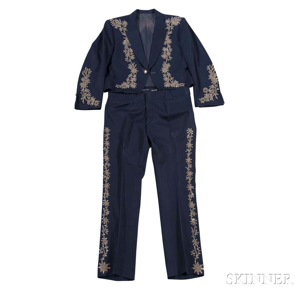 Little Jimmy Dickens     Navy Blue Suit