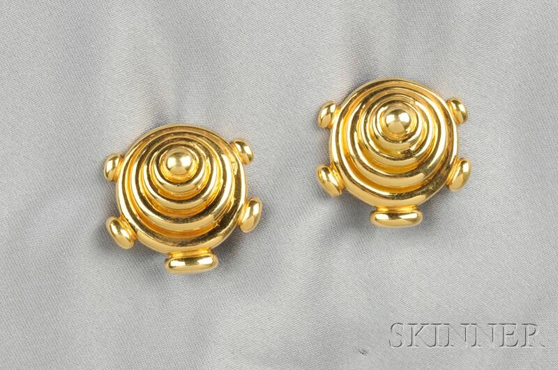 18kt Gold Earclips, Aldo Cipullo, Cartier