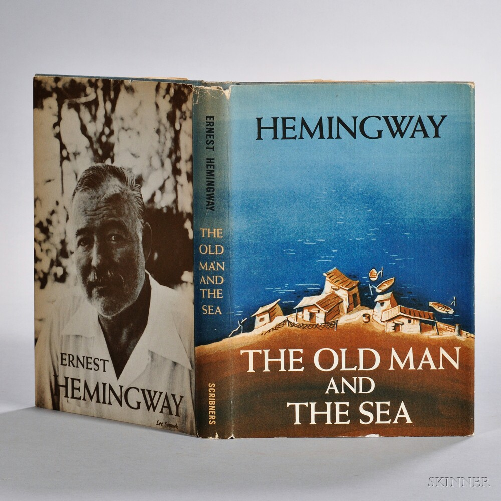 Hemingway, Ernest (1899-1961) The Old Man and the Sea,   First Edition, Signed by Joe DiMaggio.