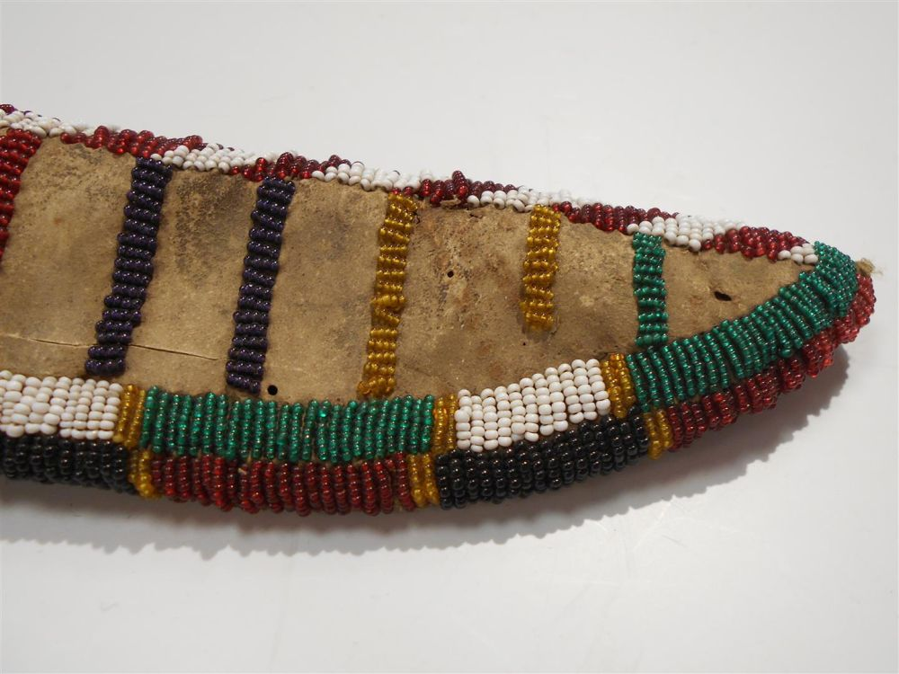 Cheyenne Beaded Buffalo Hide Knife Sheath