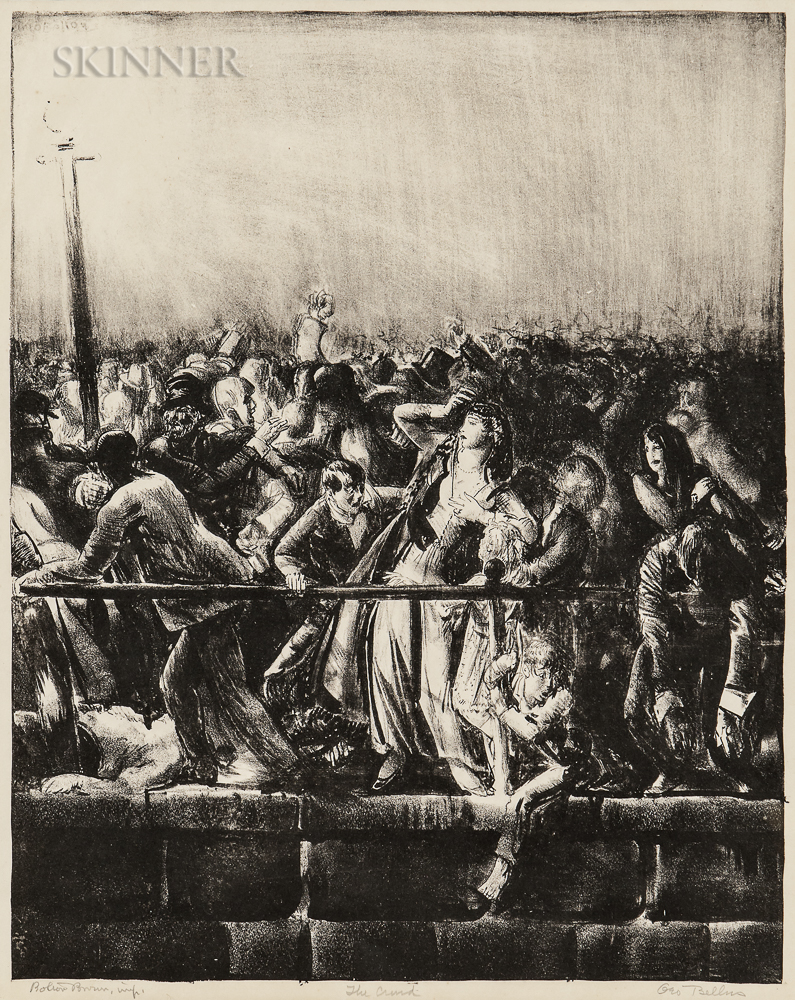 George Bellows (American, 1882-1925)      The Crowd