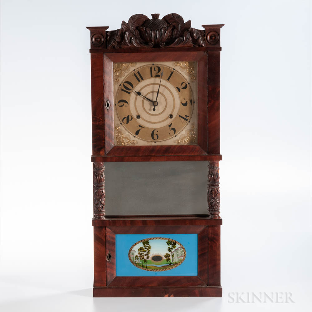 C. & L.C. Ives Triple-decker Shelf Clock