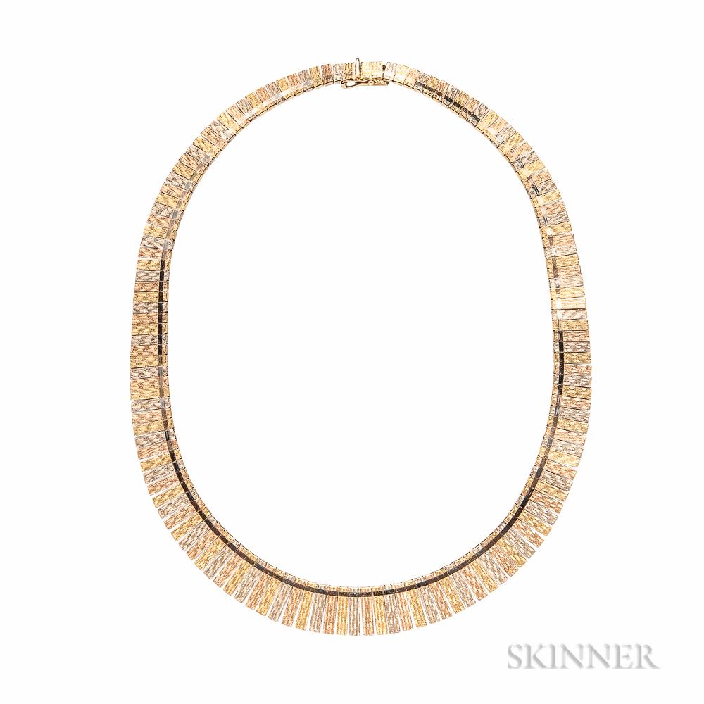 18kt Tricolor Gold Necklace