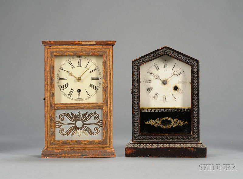 Two Miniature 30-Hour Cottage Clocks