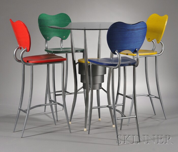 Modern High Table And Four Chairs