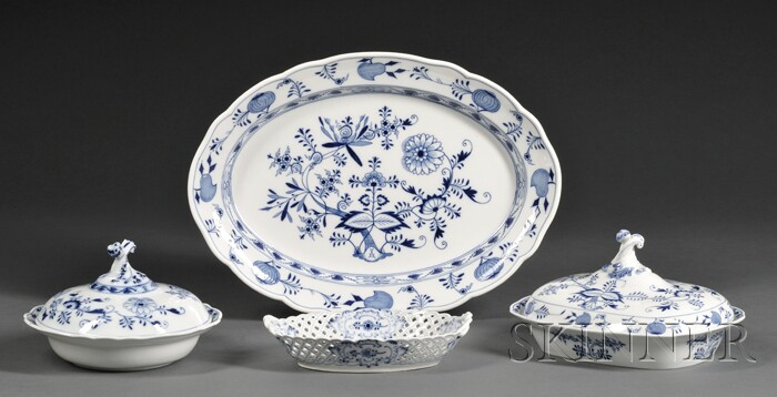 "Sixty-piece Meissen ""Blue Onion"" Pattern Porcelain Service"