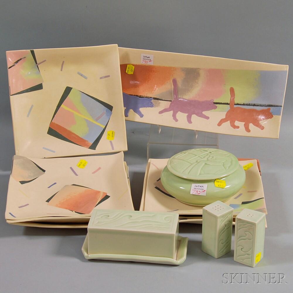 Group of Contemporary Ceramic Tableware
