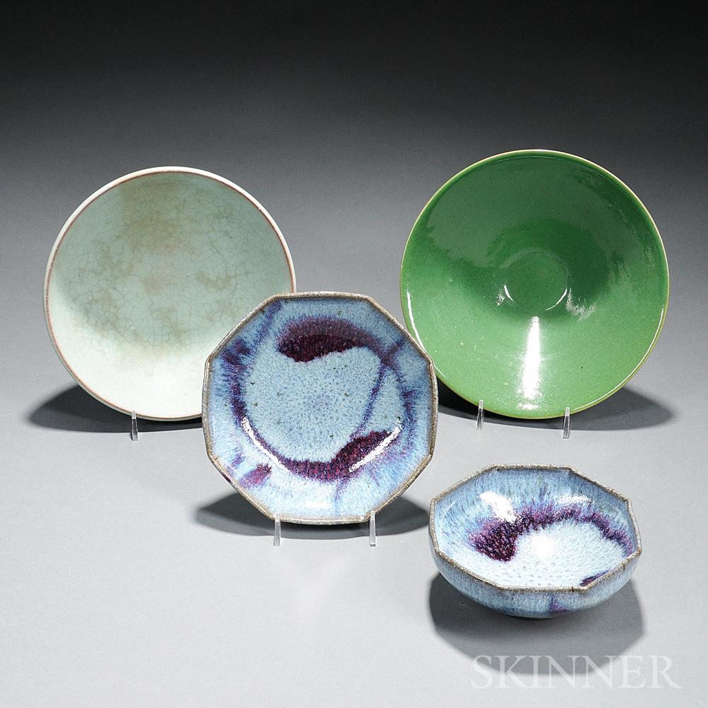 Four Studio Pottery Bowls