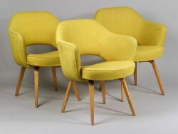 Three Knoll Upholstered Armchairs