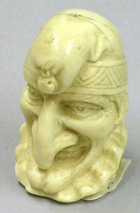Ivory Carving of a Jester