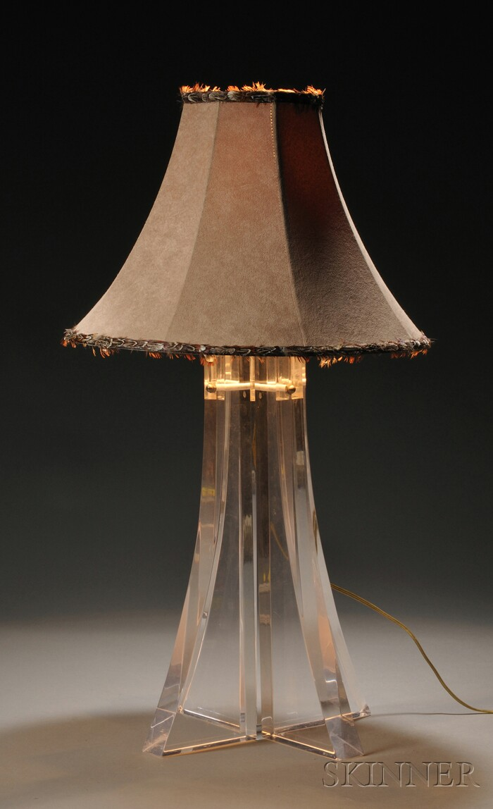 Lucite Table Lamp