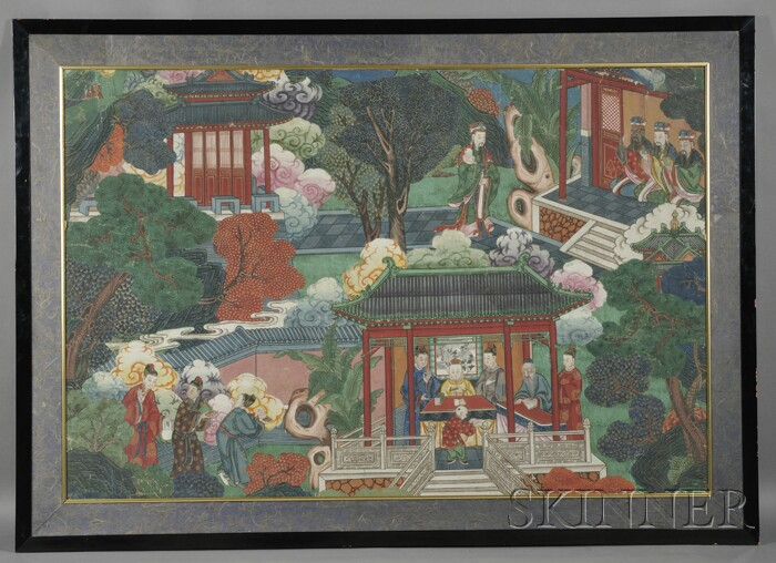 Large Framed Chinese Painting