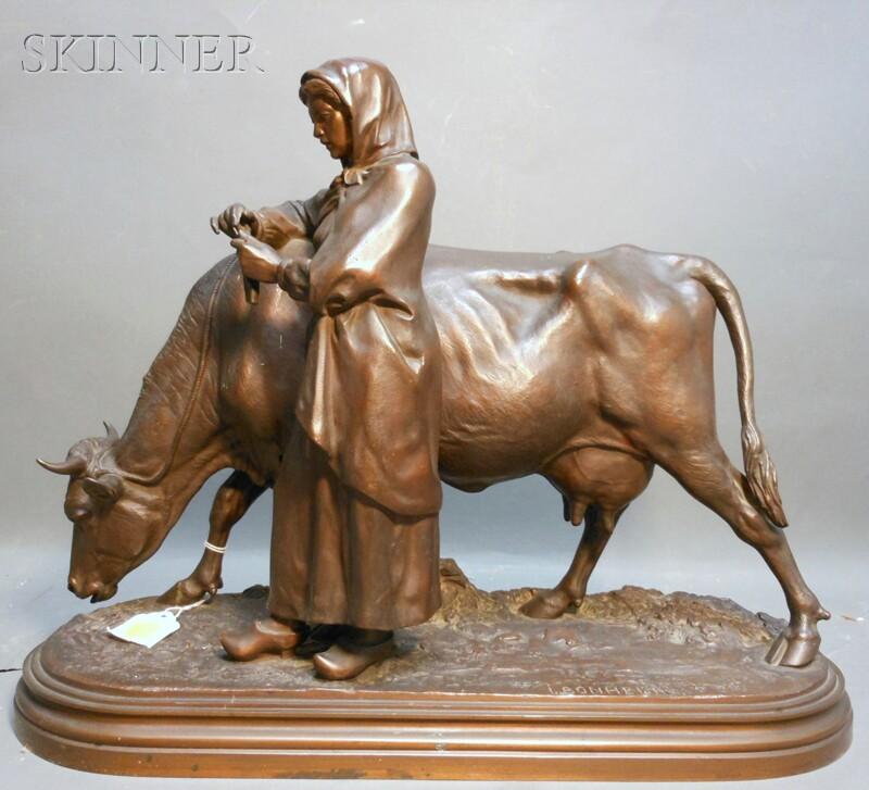 Isidore Jules Bonheur (French, 1827-1901)      La laitière