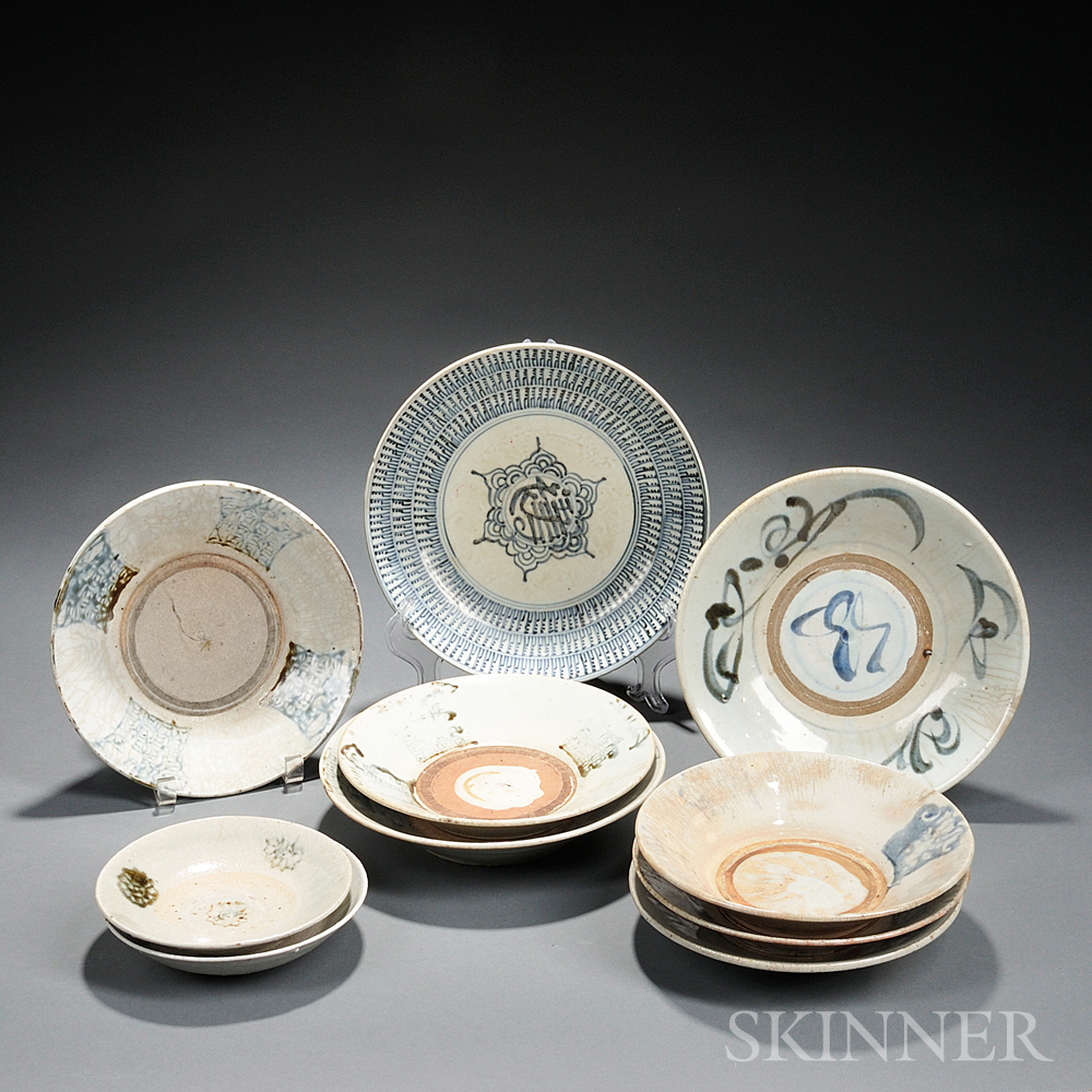 Ten Studio Pottery Dishes