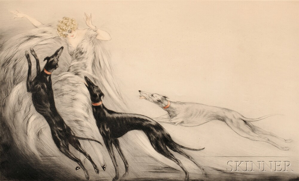 Louis Icart (French, 1888-1950)      Coursing II